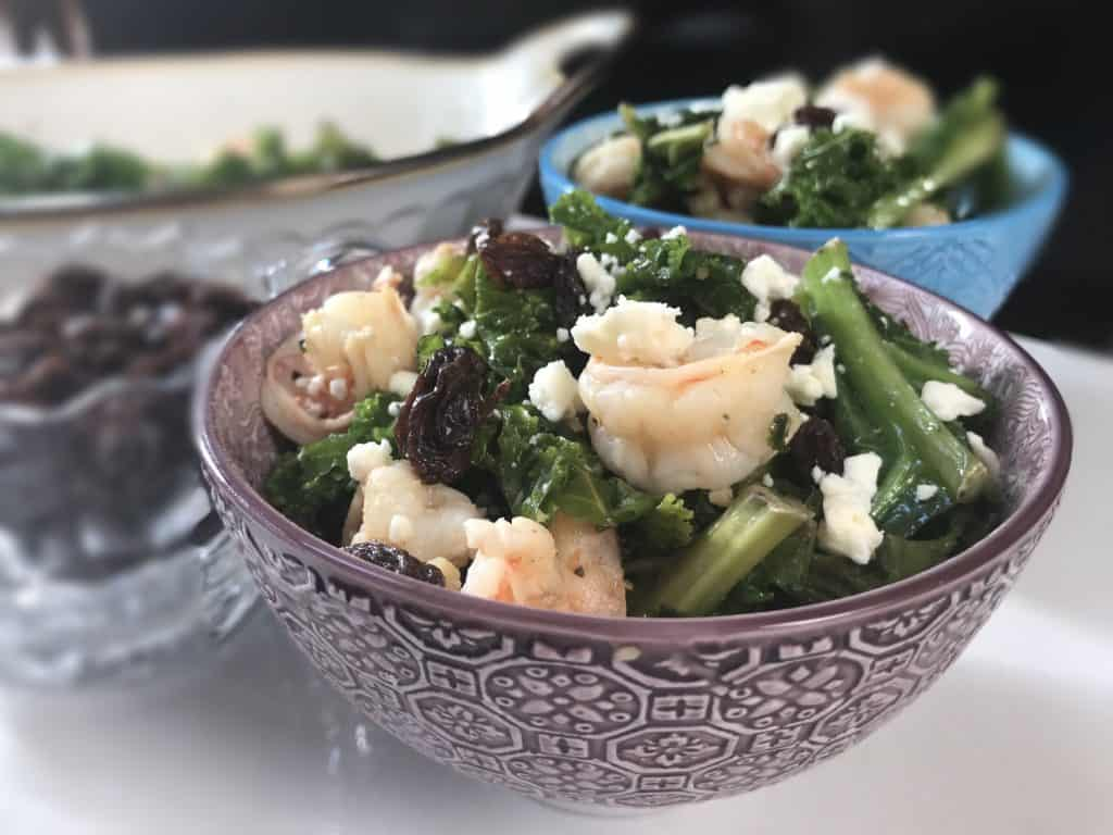 Garlic Butter Kale Shrimp Salad