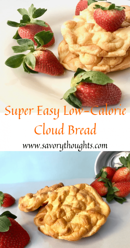 Cloud Bread - #Bread #Cloudbread #cloud #healthy #recipes #easyrecipes #easybread #lowcalorie #carbfree #nocarbs