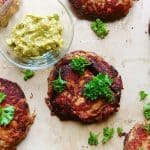 These salmon burgers are perfect enough to eat on their own. However, when dressed with the guacamole, the flavors will explode in your mouth. Perfect for night that calls for an easy quick dinner. Savory Thoughts   Salmon Burger with Guacamole. #salmonburger #salmonpatties #patties #salmoncakes #guacamole #homemade #easyrecipe #easyrecipesalmonburger #easysalmonburger #easysalmonpatty
