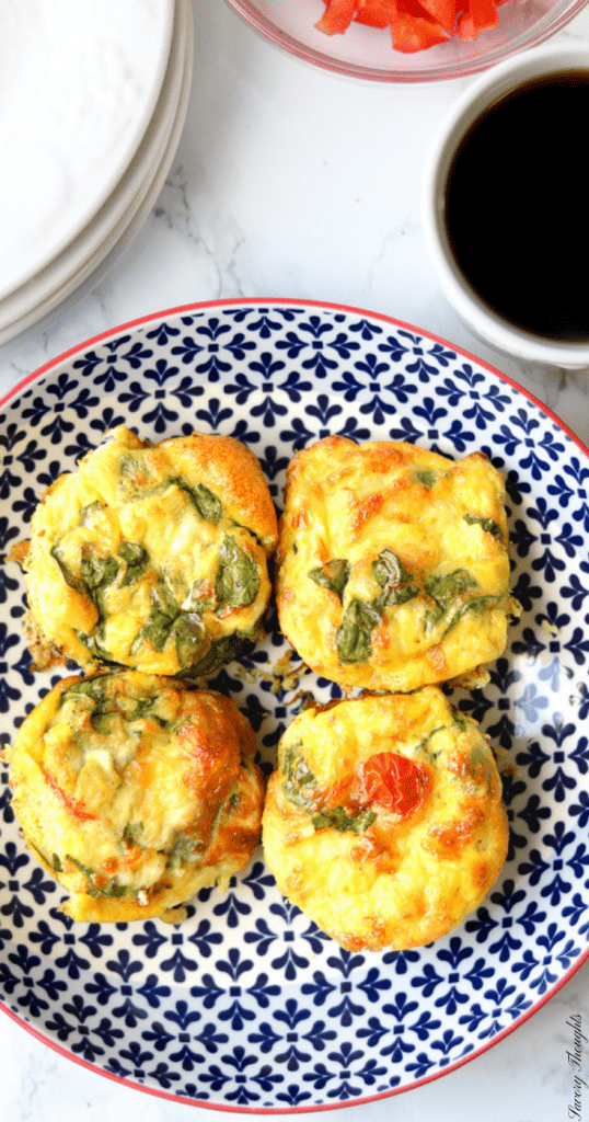 Breakfast-Egg-Muffins-Savory-Thoughts-Step-by-Step-These Breakfast Egg Muffins are exactly what you need for a quick grab and go breakfast. They are loaded with all your favorite fixings. They are healthy, low carb and gluten-free! #breakfasteggmuffins #muffins #breakfastmuffins #eggmuffins