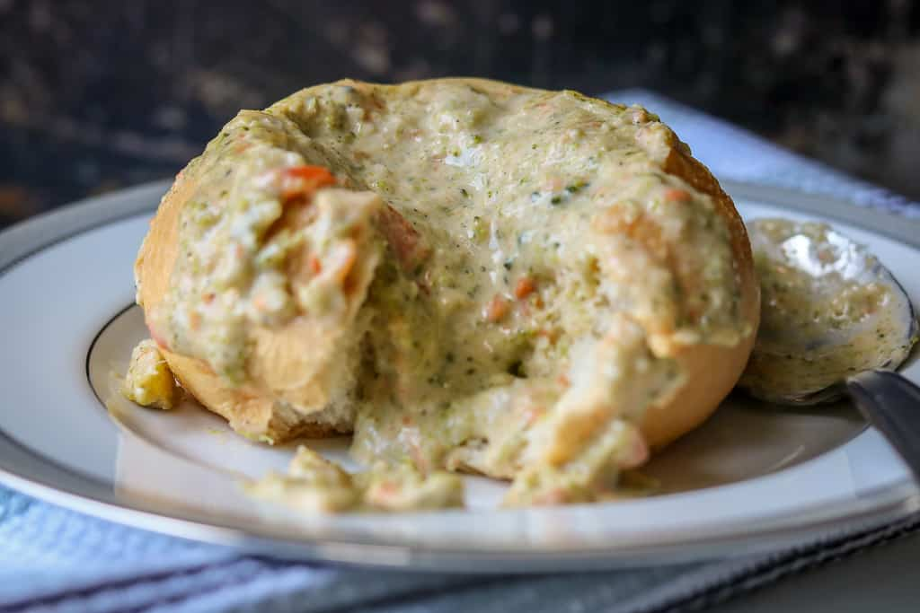 Panera Bread Broccoli Cheddar Soup Copycat - savory thoughts