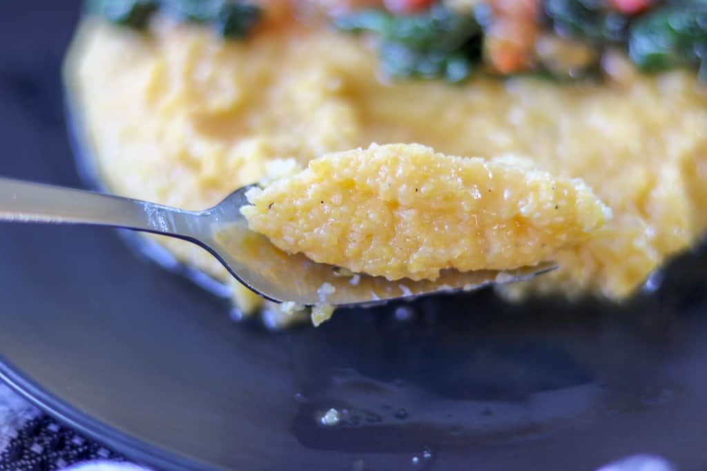 Savory Thoughts - Mais Moulin- ready polenta - 15 – Minutes Mais Moulin meal that is not only easy to make but also delicious. A perfect way to have dinner on the table to feed your family in no time!