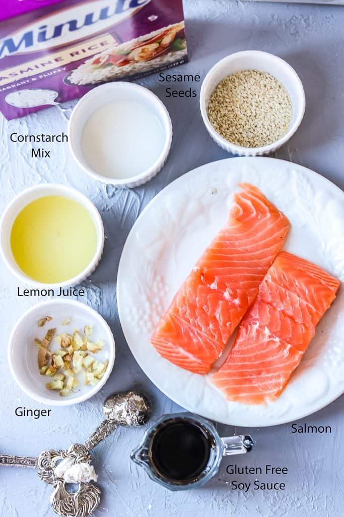 salmon rice bowl Ingredients 2