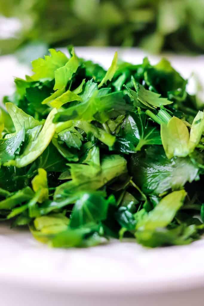 Fresh green herbs for Kuku Sabzi – Persian Herb Frittata