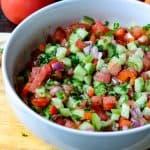 Israeli Salad - Middle Eastern Salad Recipe - Savory Thoughts