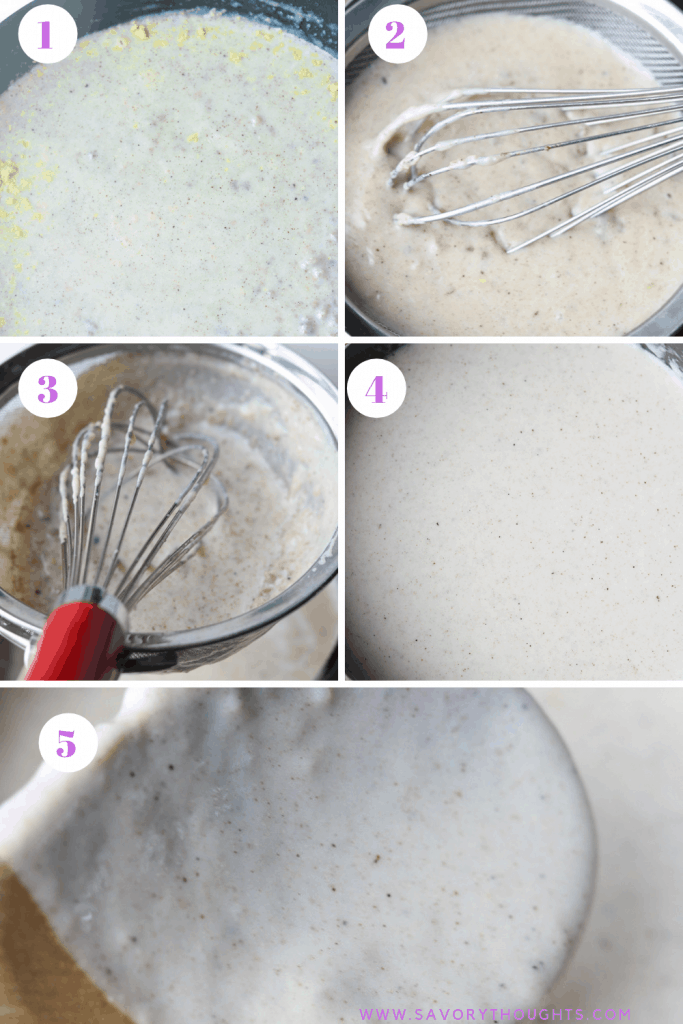 Gravy for chicken fried steak - Step by step photo guide