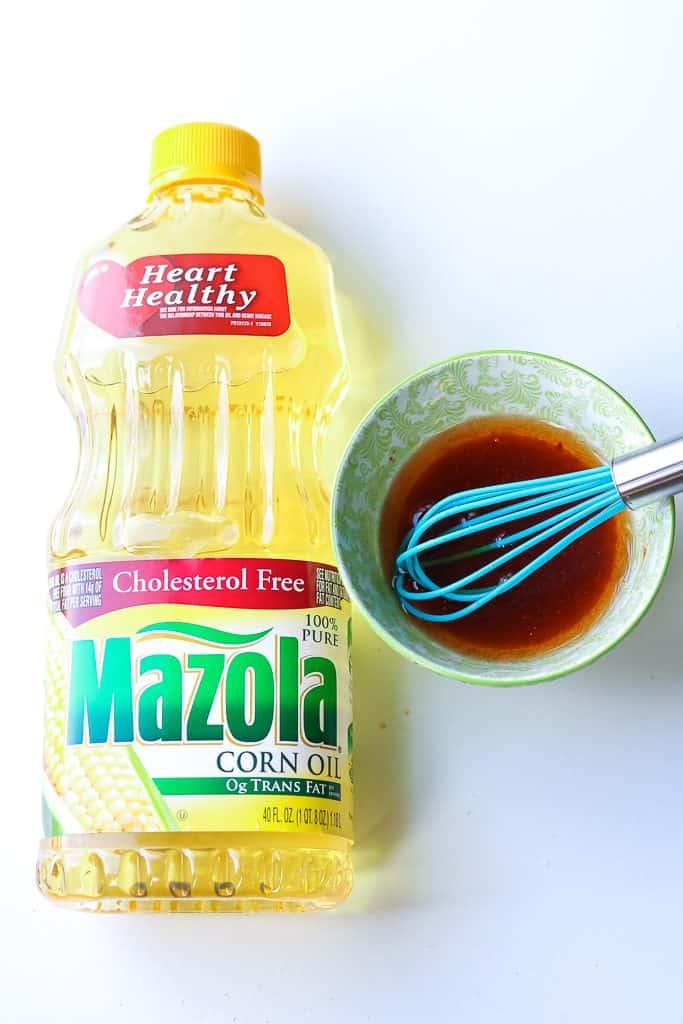 Corn oil mixture with Mazola Corn Oil