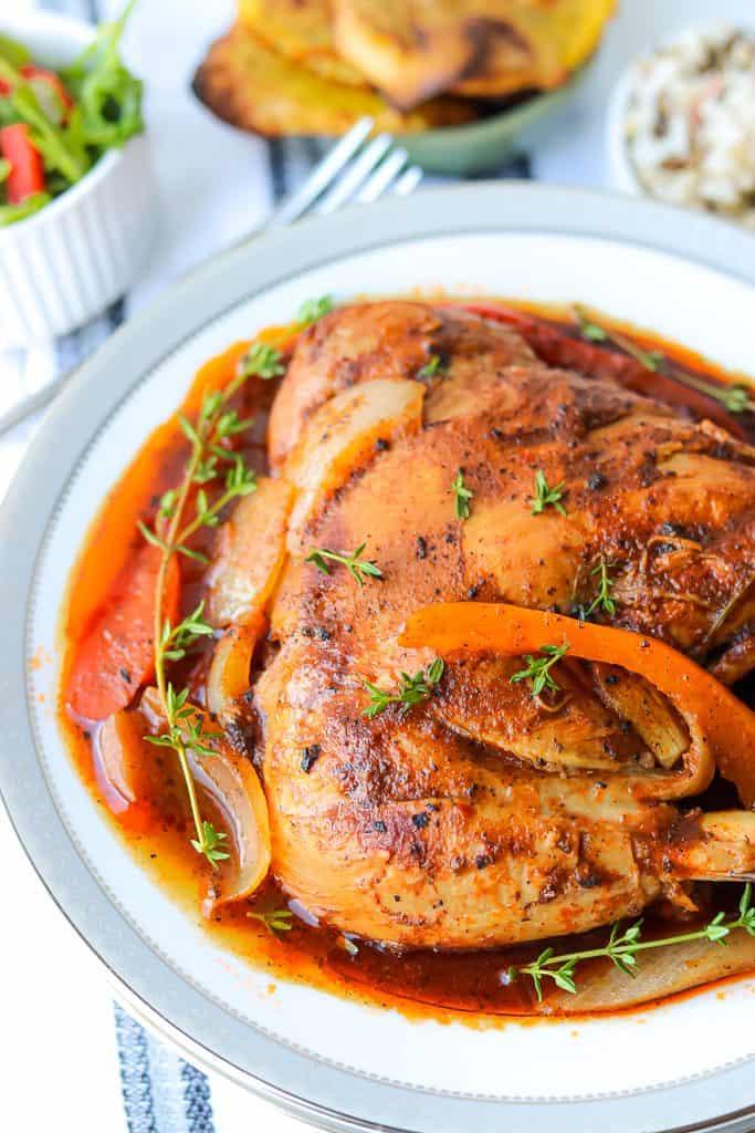 Poulet En Sauce - Authentic Haitian Chicken stew