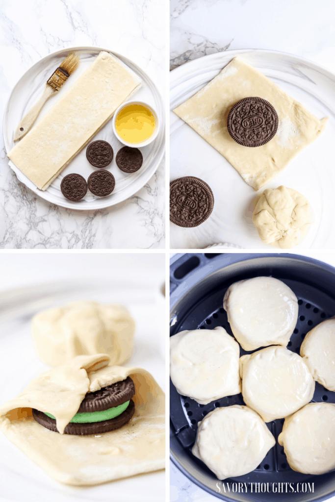 Ingredients to make air fryer Oreos