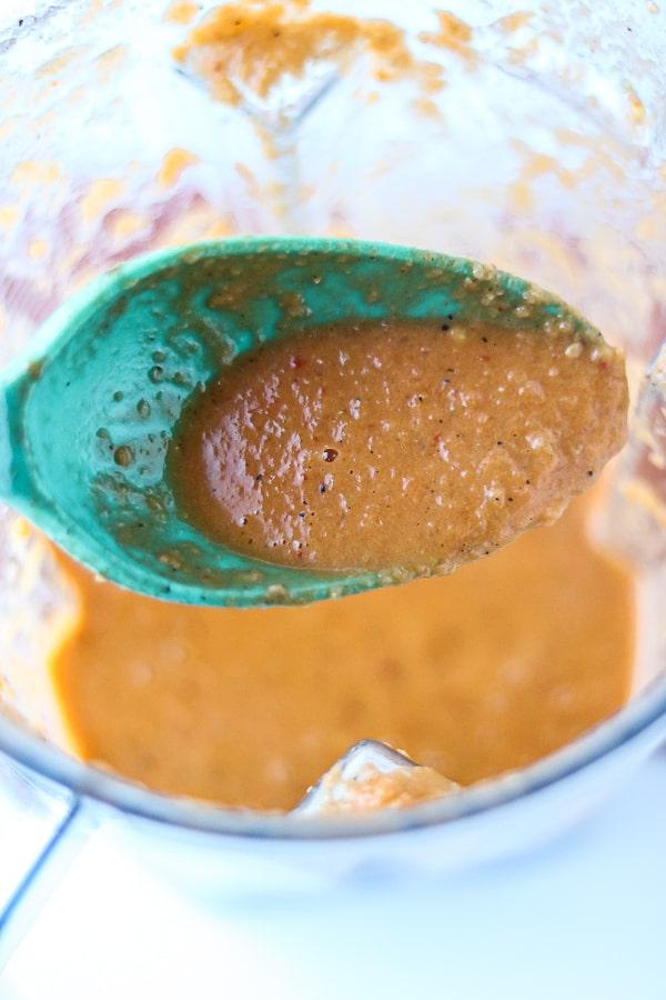 Blended Haitian hot sauce