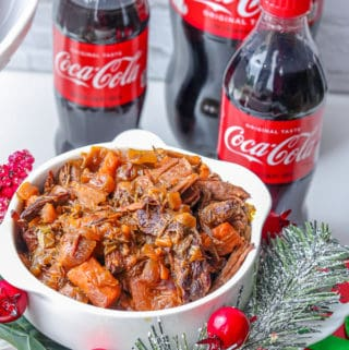 crockpot chuck roast recipe with coca-cola bottles.