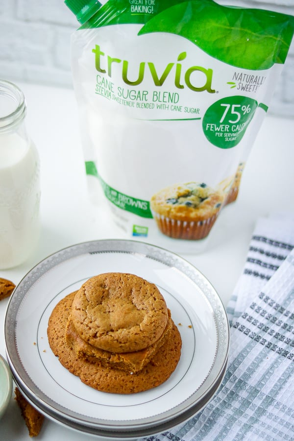 Molasses Cookies with truvia package