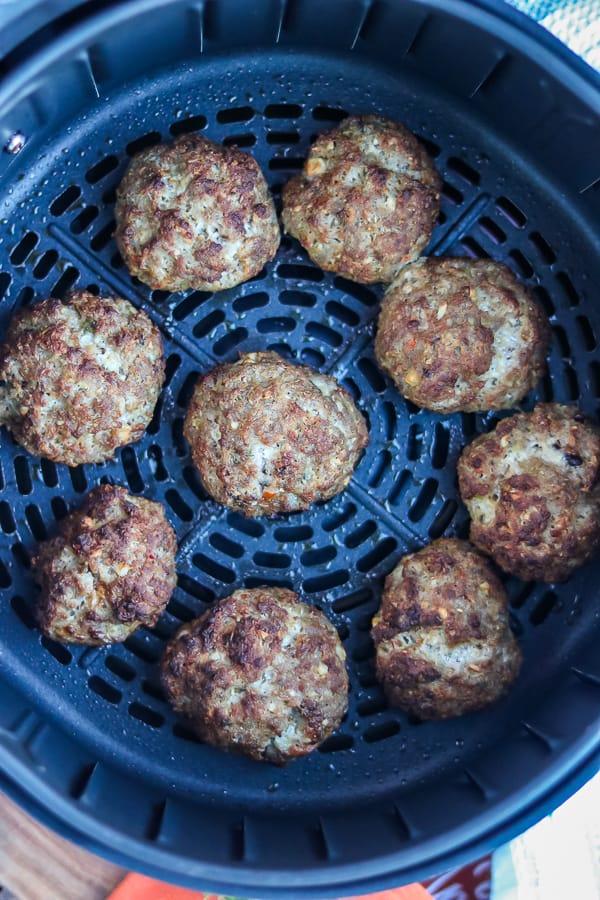 cooked air fryer Haitian meatballs