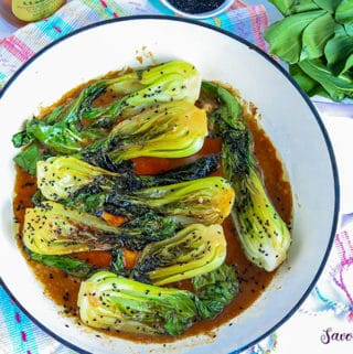 Sauteed Baby Bok Chop Recipe with sesame seed