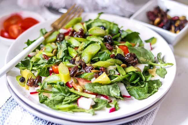 Asparagus Salad Recipe with Cranberry Vinaigrette