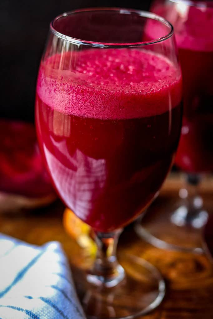 Beetroot Juice in tall glass