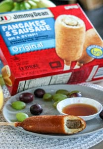 Jimmy Dean Freezer pancake and sausage on a stick pinterest pin