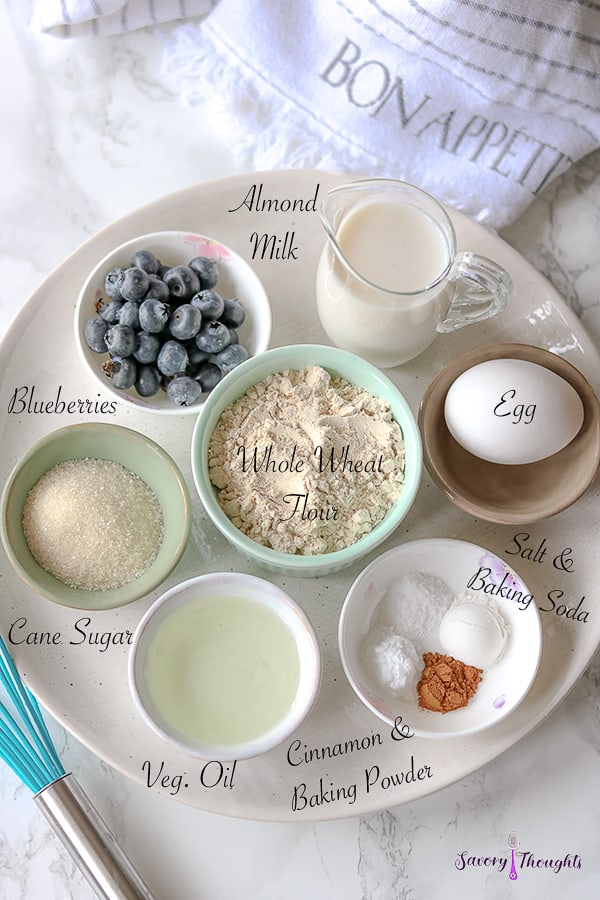 Wheat Muffins Ingredients