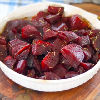 Oven Roasted Beets with Rosemary Sprinkled