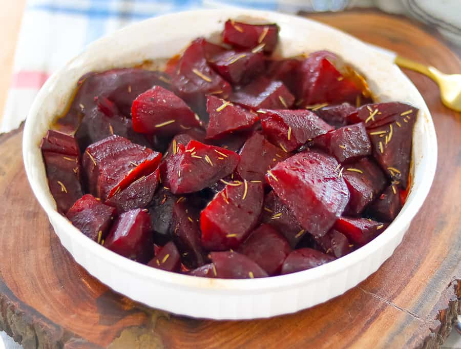 Oven roasted beets with rosemary