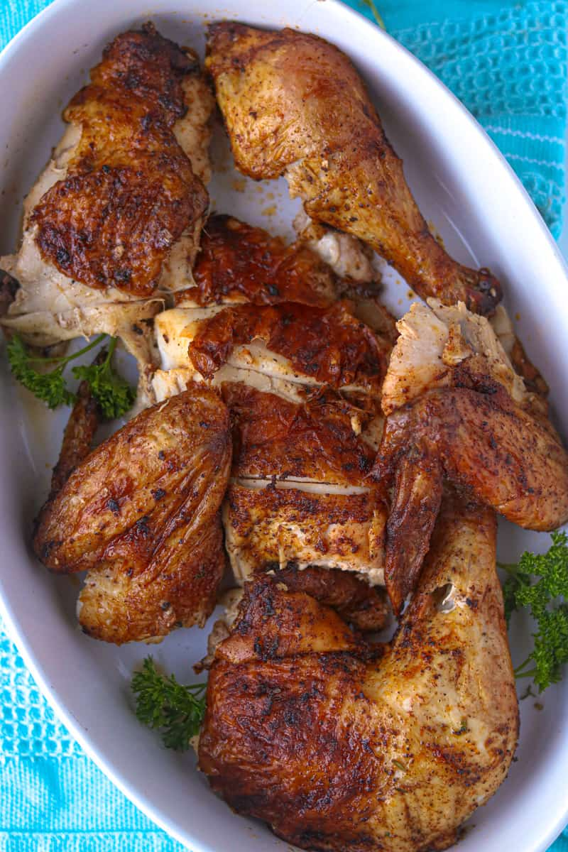 chicken cut into pieces