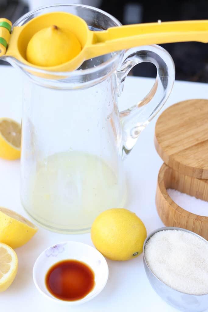 Lemon Juice in pitcher