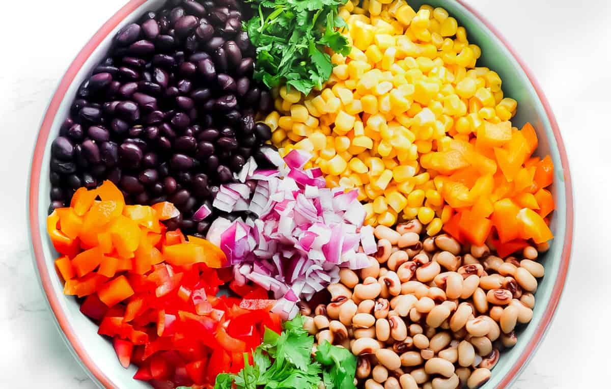 Bean salsa ingredients