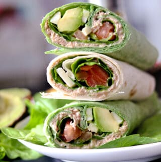 Spinach Tuna Wrap Recipe stacked on top of each other