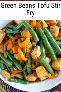 Green Beans Tofu Stir Fry Pinterest PIN