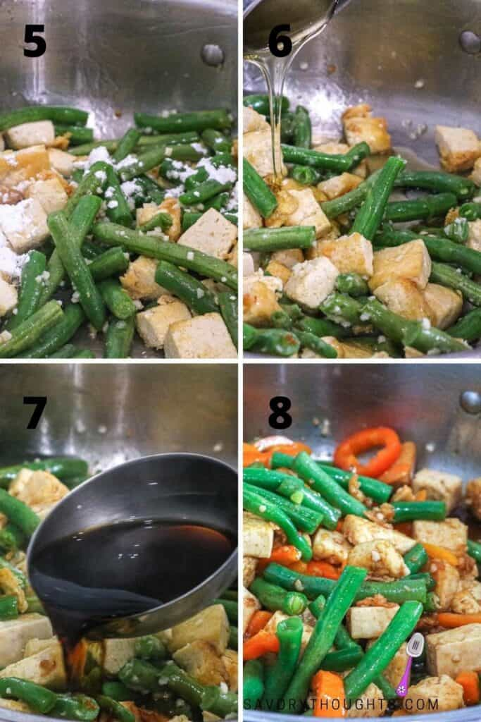 veggie stir fry step by step guide to making tofu with green beans