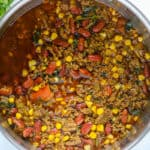taco soup in pot