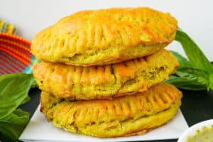 Jamaican Meat Pies layered