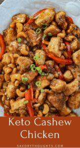Keto Cashew Chicken Recipe Pin