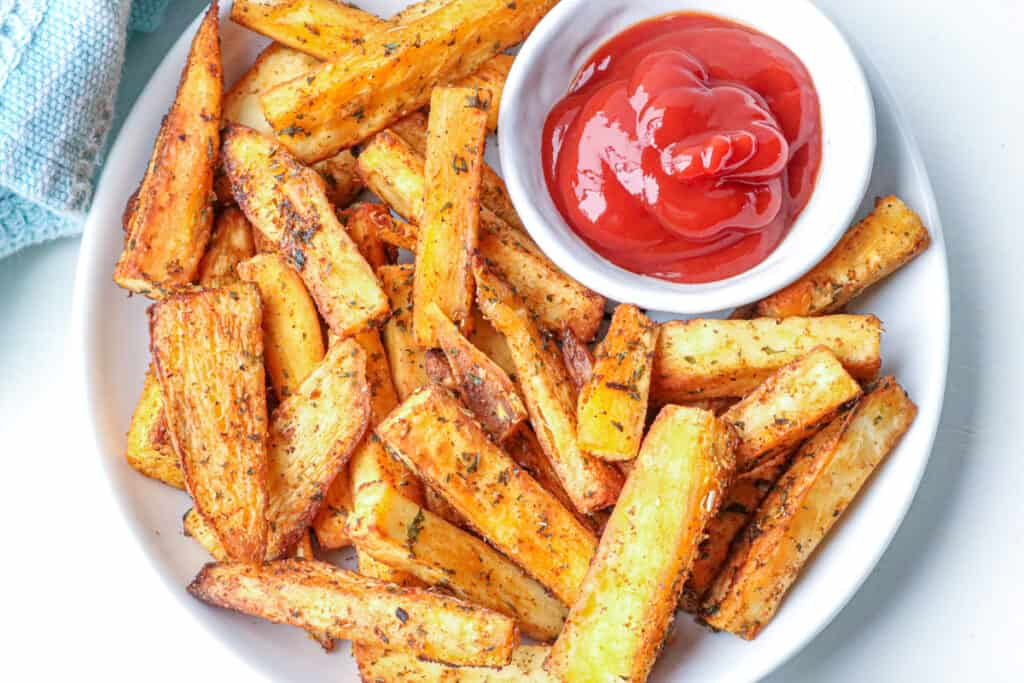 Yuca Fries with ketchup
