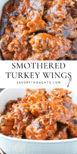 Turkey Wings smothered Pinterest Pin