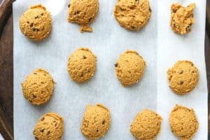 cookie dough on sheets