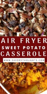 Air Fryer Sweet Potato Casserole Pinterest Pin