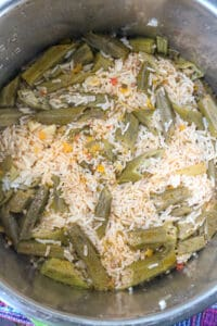 rice and okra in instant pot
