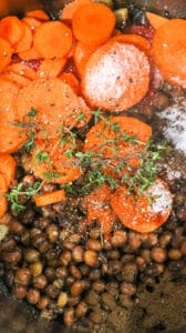 carrot and pigeon peas with herbs in instant pot