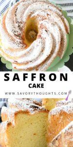 Saffron Cake Pinterest PIN