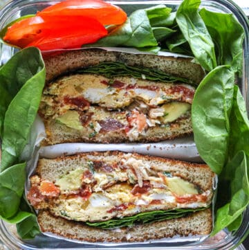 sandwiches in a container