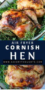 Air Fryer Cornish Hen Pinterest Pin