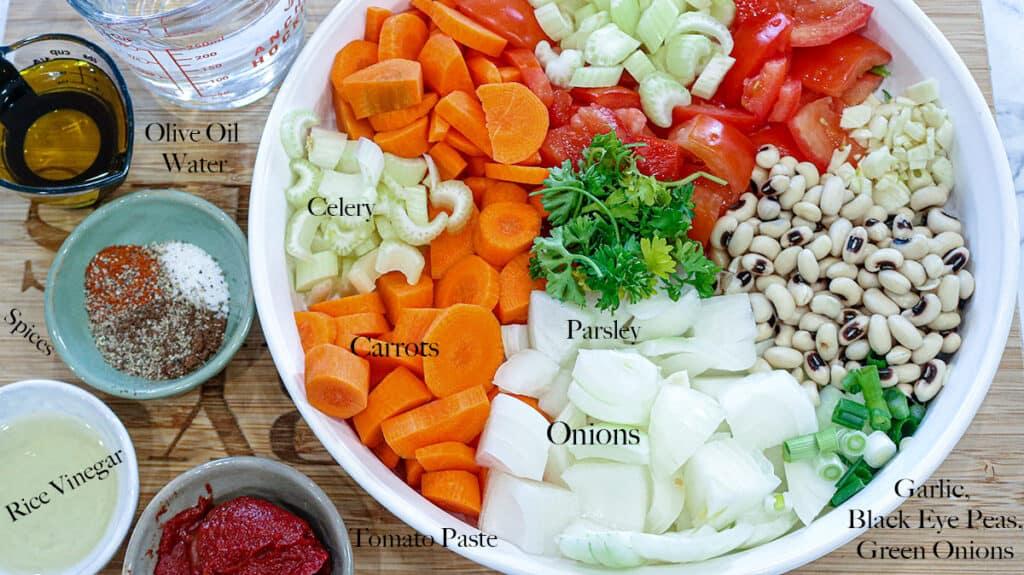 List of ingredients