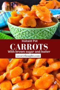 Instant pot carrots recipe pinterest pin