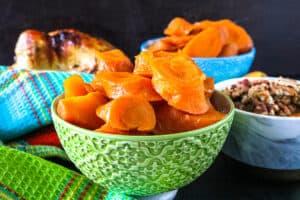 closeup picture of instant pot carrots recipe