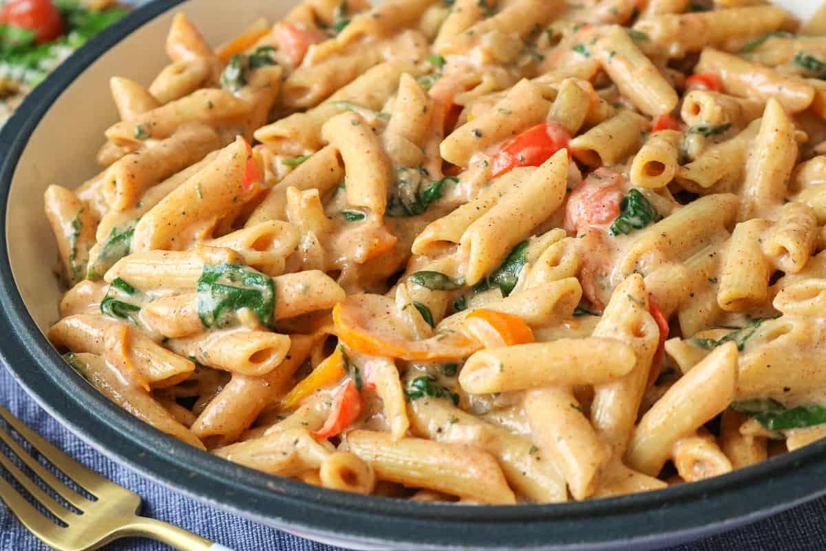 Vegetarian Rasta Pasta In Large Bowl