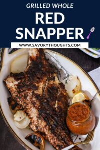 grilled red snapper Recipe Pin