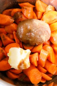 sugar, butter, carrots in instant pot