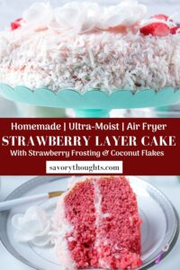 ultra moist strawberry cake Pinterest Pin
