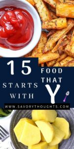 food that starts with Y Pinterest Pin